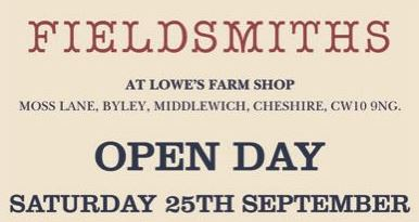 Fieldsmiths Open Day – Saturday 25th September